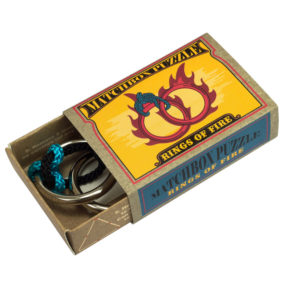 1232 - Matchbox Puzzles - Rings of Fire - Open Box