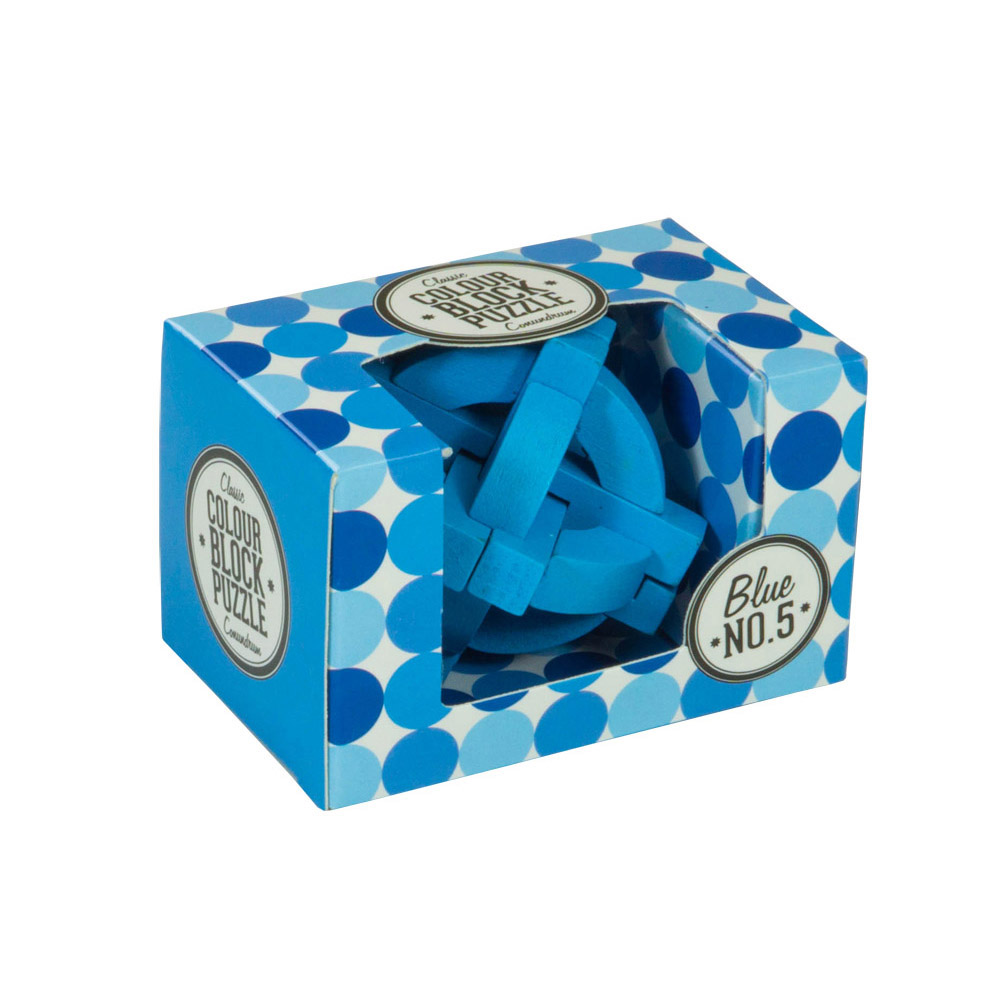 Colour Block Puzzles - Box - blue