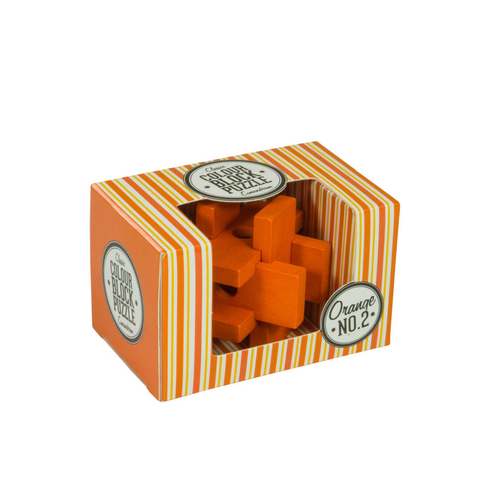 Colour Block Puzzles - Box - orange