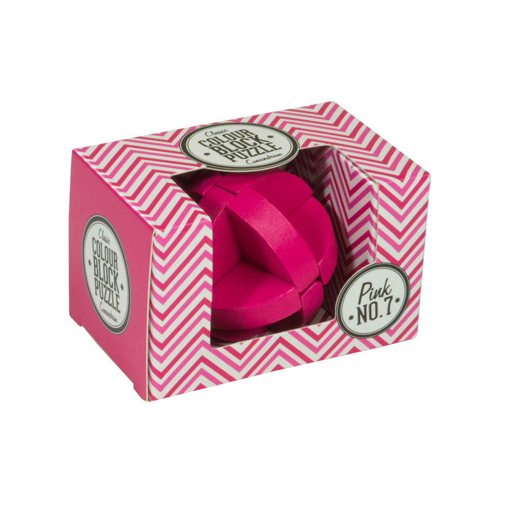 Colour Block Puzzles - Box - pink