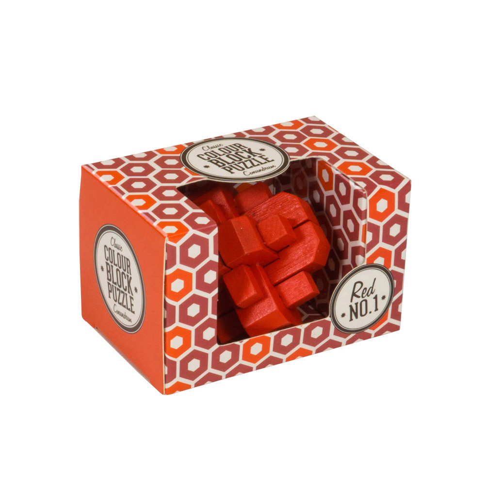 Colour Block Puzzles - Box - red