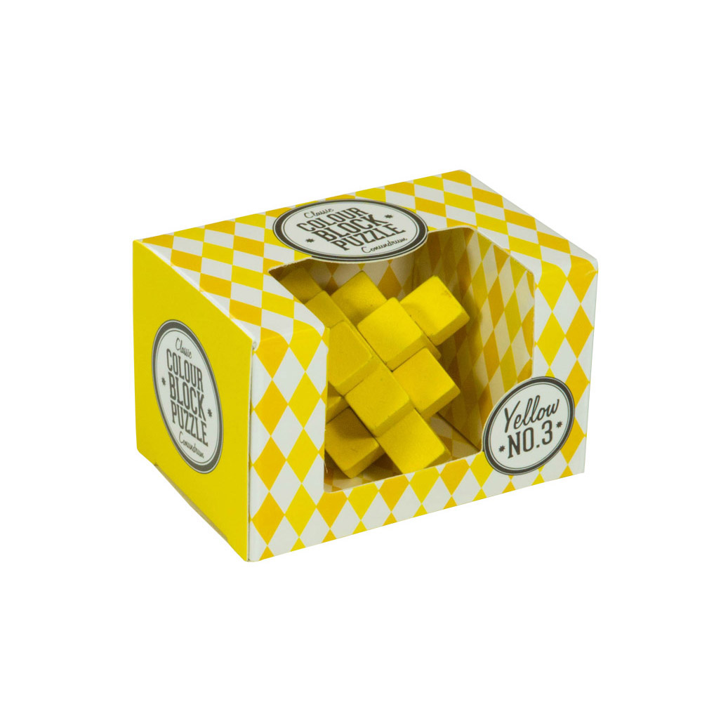 Colour Block Puzzles - Box - yellow