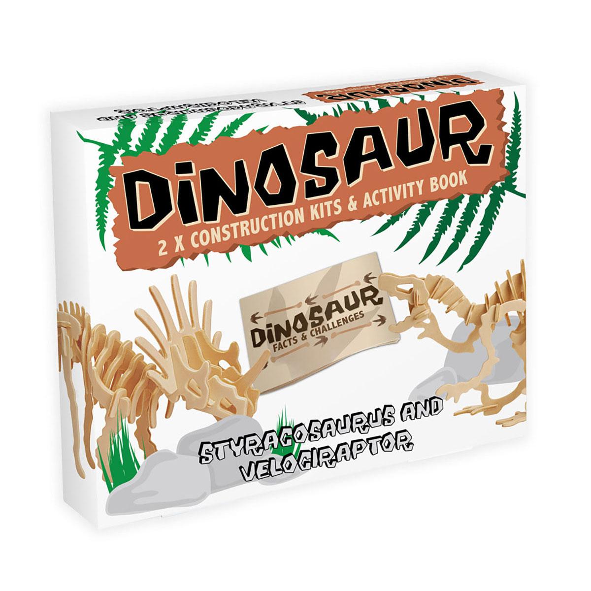 Dinosaur - Styracosaurus and Velociraptor