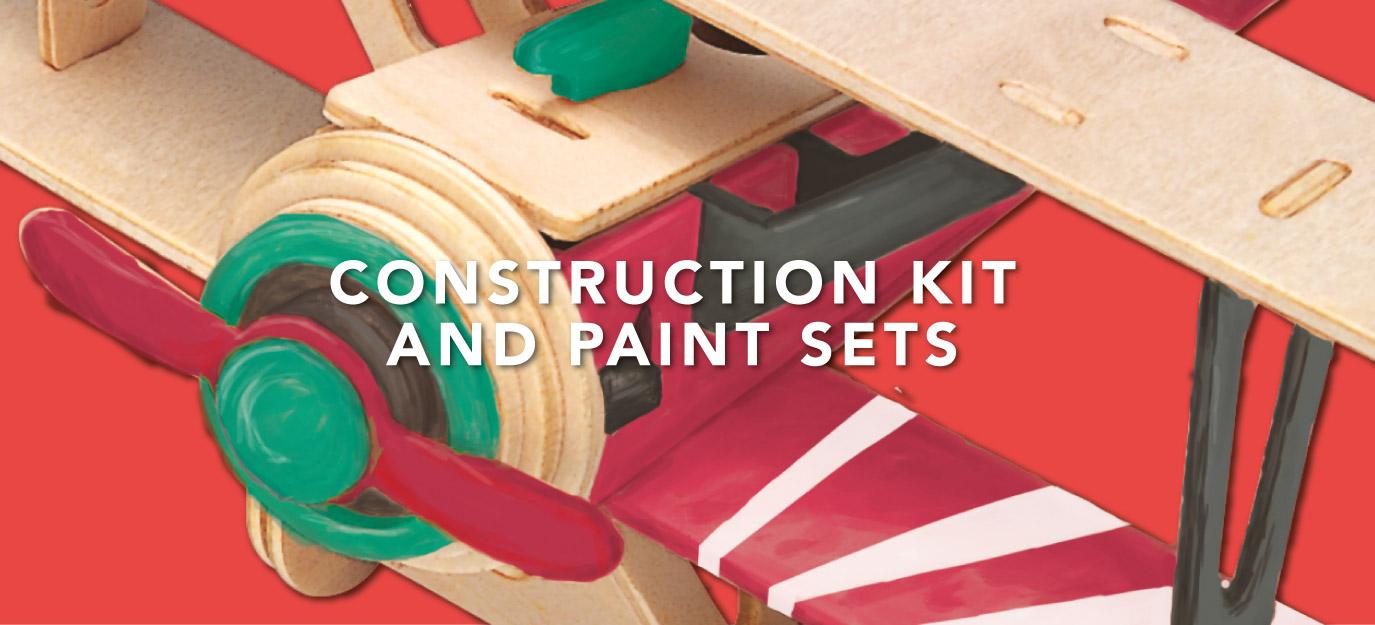 Construction Kit & Paint Sets