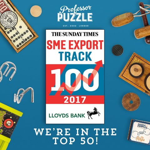 The Sunday Times SME Export 100 names Professor Puzzle in the top 50