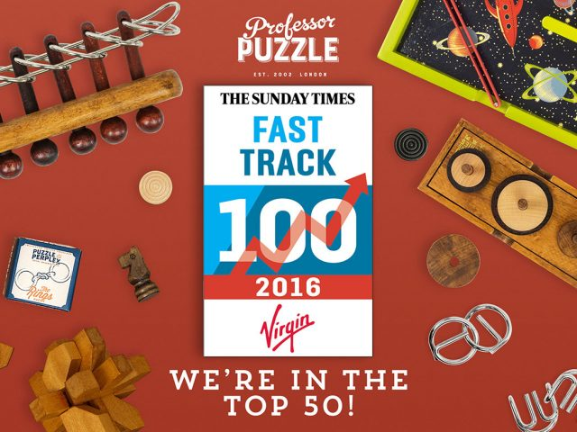 Professor Puzzle claims coveted spot in the Sunday Times Virgin Fast Track 100!