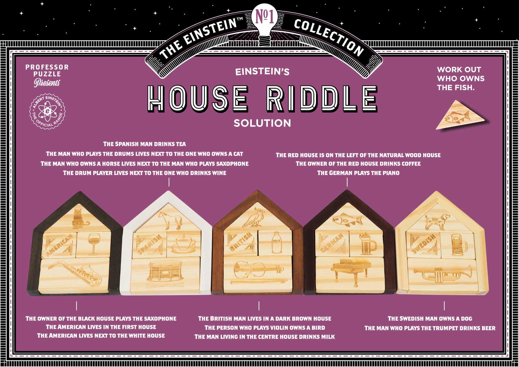 Einstein's House Riddle   Professor Puzzle