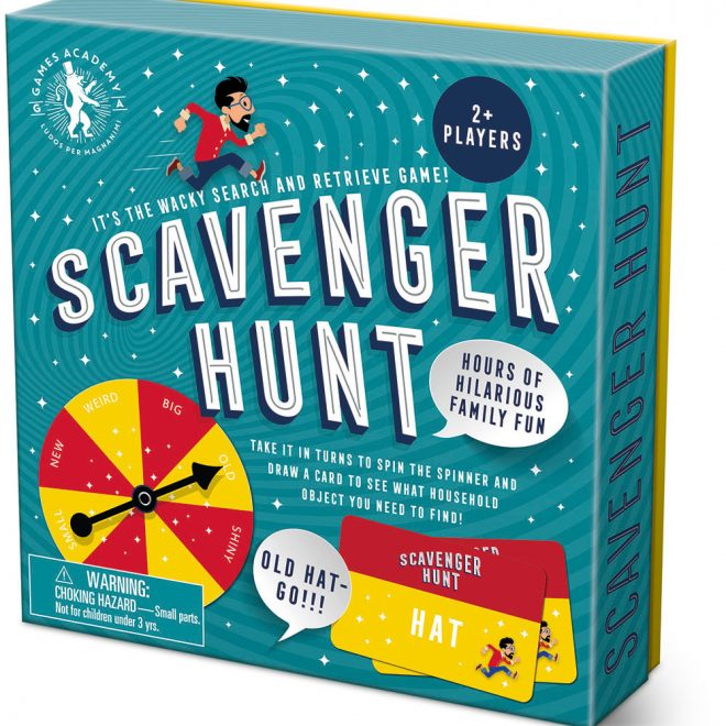 Scavenger hunt packaging