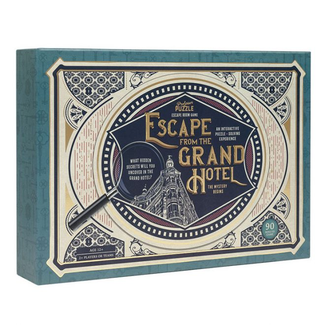 escape from the grand hotel - escape room game by Professor Puzzle