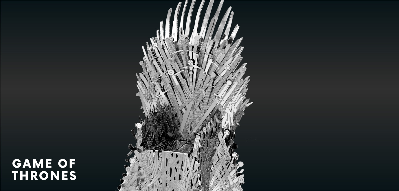 iron throne metal earth model