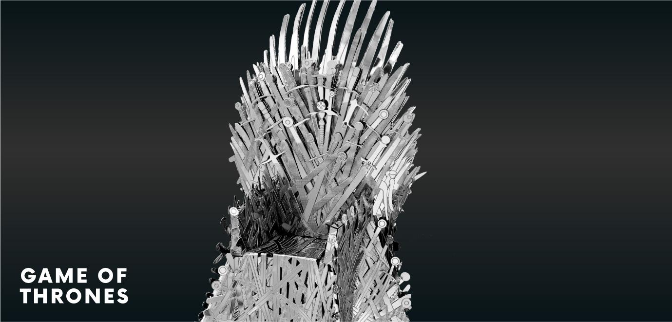 iron throne metal earth model