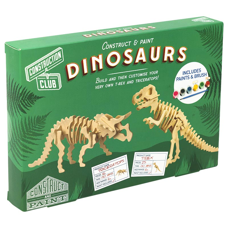 Dinosaur Construction Kit Professor Puzzle