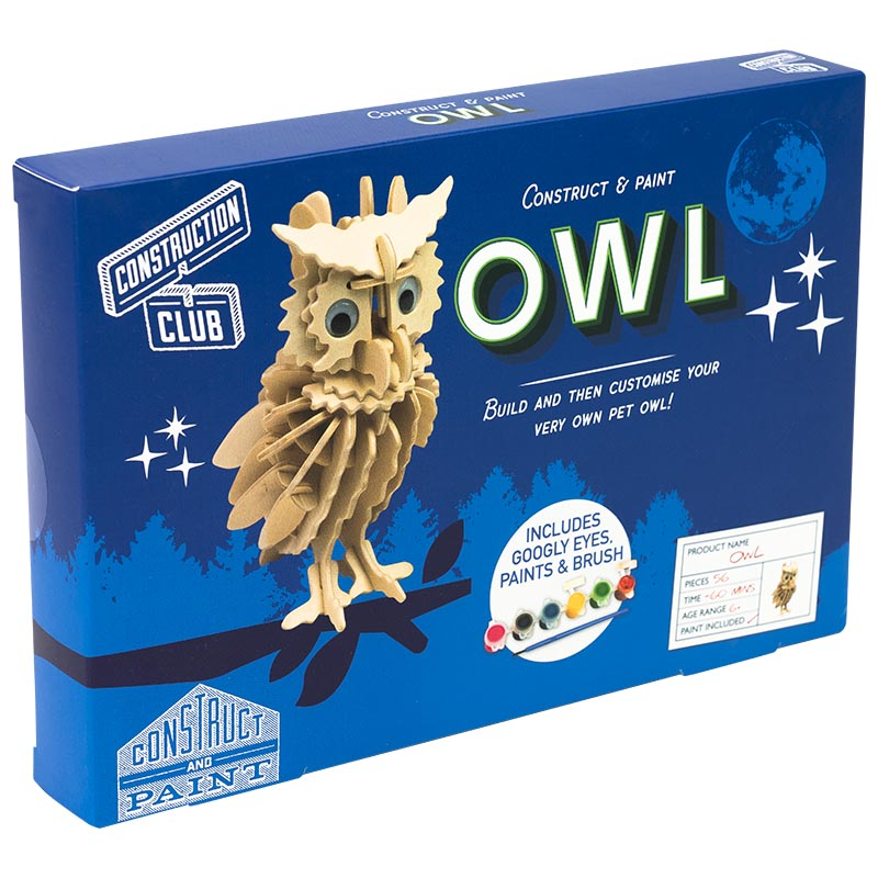 Owl Construction kit Professor Puzzle